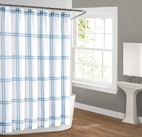 Cottage Classics Autumn Shower Curtain, Farmhouse Plaid