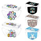 Happy Flower Printed Disposable Face_Masks for Adults, 50PCSBlossom Printed Printing 3 Ply Breathable Anti-Dust Safety Protection Filter, Fashion Protective Balaclava for Women Men