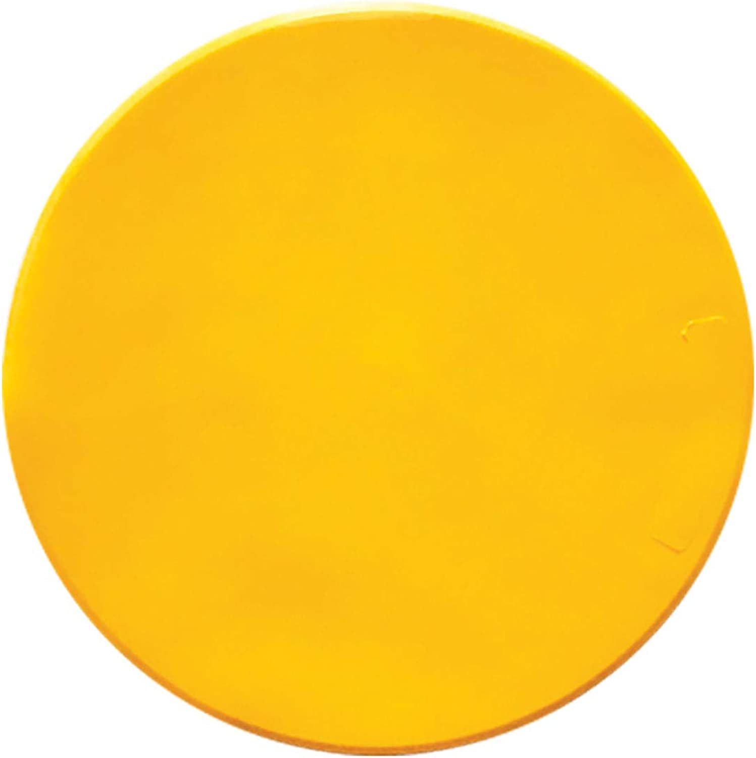 Champion Sports Poly Spot Marker, 9-Inch, Yellow (Pack of 12)