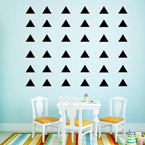 Tianpengyuanshuai Geometrische Dreieck Wandaufkleber Home Decoration Kinderhaus Wandtattoos 63X66cm