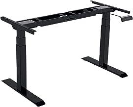 Gedotec Tafelframe bureau meubelvoet in hoogte verstelbaar 580-1230 mm - Officys Econo | metalen tafelpoot zwart | tafelfr...