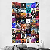 Tigga Rapper Album Cover Collage Tapestry Polyester 3D Printed Artwork Wall Hanging Tapestries for Bedroom Livingroom Dorm Outdoor Decoration 60 X 40 Inch