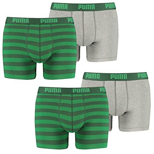 Puma Herren Boxershort Striped 1515 Boxer 4er Pack, Größe:S;Farbe:green (327)