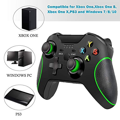 Wireless Controller for Xbox One,2.4GHZ Controller Compatible with Xbox One S/X/Elite,PS3, PC Windows 7/8/10, Android Phone with Built-in Dual Vibration.