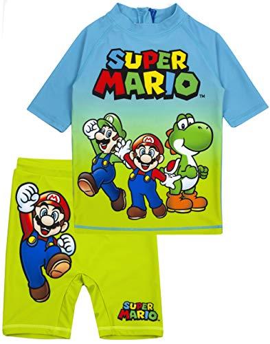 Super Mario Traje de baño de para niños UV50 protección Solar Camiseta 9-10 años