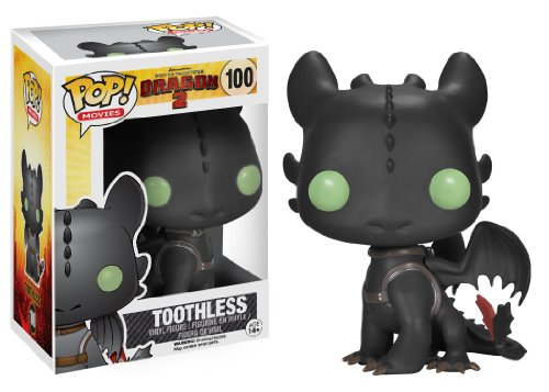FUNKO Pop! Movies: How to Train Your Dragon - Toothless Collectible figure Pop! Movies: How to Train Your Dragon - figuras de accion y de coleccion (Collectible figure, Dibujos animados, Pop! Movies: How to Train Your Dragon, Multicolor, Vinilo, Caja)