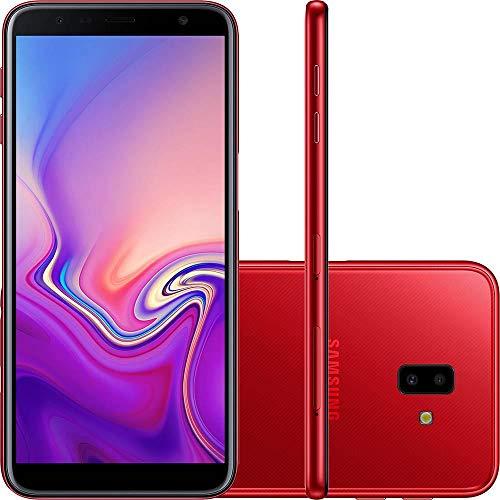 """Smartphone Samsung Galaxy J6 Plus Vermelho 32GB 3GB RAM Tela infinita de 6"""" Dual Câmera 13MP 5MP"""