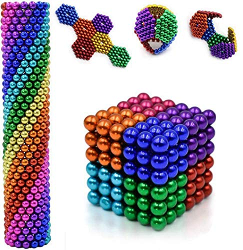 5mm 216Pcs Magnetic Balls - Magnetic Building Magnets Toys Mashable Smashable Buildable Fun Stress Relief Desk Toy Games Magnet Toys (8 colors)