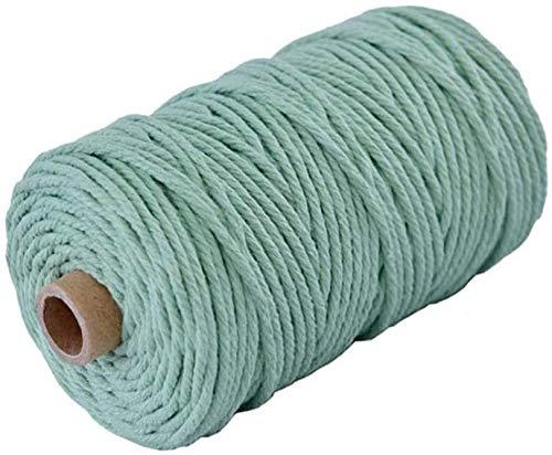 Lorryhaus Cuerda de macramé multicolor para manualidades, hilo natural de algodón de...