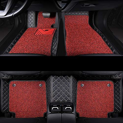 Compatibile Con Audi Q7 2019 2018 2017 2016 Tappeto Auto A Doppio Strato, Tappetino Da Compagnia A Piena Coprente Integrale Su Misura, Facile Da Installare E Pulire,Rosso