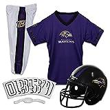 Franklin Sports Baltimore Ravens Kids Football Uniform Set - NFL Youth Football Costume for Boys & Girls - Set Includes Helmet, Jersey & Pants - Small