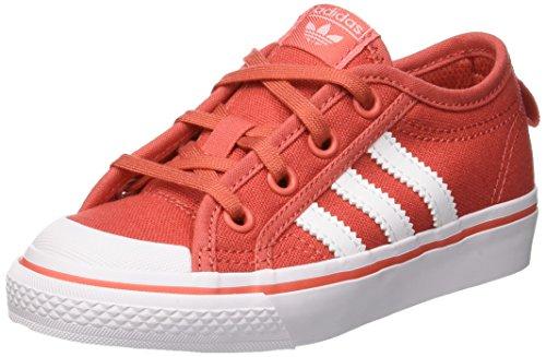 Adidas Nizza C, Zapatos de Baloncesto Unisex Niños, Rojo (Trascaftwwhtftwwht), 34 EU