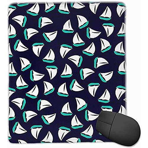 Office muismat schattig zeilboot artistieke schilderij rubber muismat 30 * 25 * 0,3 cm Gaming muismat met zwart slot rand
