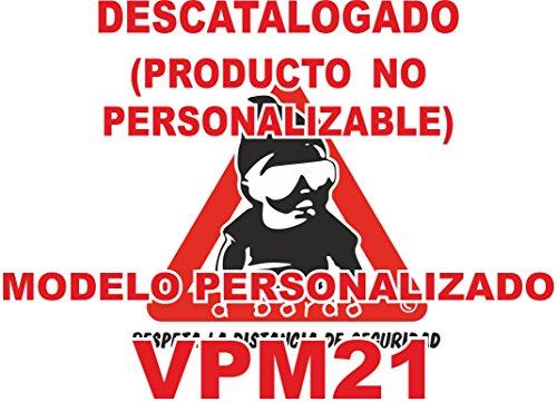 Adhesivo personalizado Bebé a bordo VPC21-2C. DISEÑO EXCLUSIVO. VENDIDO Y ENVIADO POR VPM ORIGINAL. PRODUCTO Y EMPRESA 100% DE ESPAÑA. NO COMPRAR AL VENDEDOR