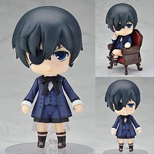 KIJIGHG Figuras de Anime de Black Butler Kuroshitsuji Ciel, Juego de Juguetes Bonitos, Figuras de accion de Anime, Modelo de Personaje de Anime, 10 cm