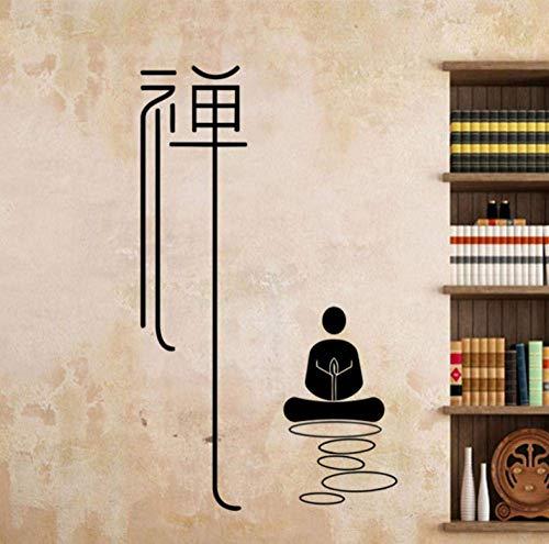Adhesivos De Pared Murales 42 X 74 Cm Meditación Budista Zen Yoga Adhesivo De Vinilo Adhesivo De Pared Para El Hogar Adhesivos De Pared Extraíbles Decoración Para El Hogar Sala De Estar Dormitorio