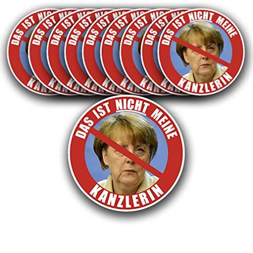 Stickers/Sticker Das ist nicht Meine Kanzlerares Set Merkel Demo 10 x 9,5 m A2759