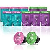 Gourmesso Lungo Box – 100 Nespresso kompatible Kaffeekapseln – 100 % Fairtrade – Die 2 beliebtesten Lungo-Sorten in einer Box