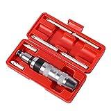 MAXPOWER Juego de Destornilladores de Impacto de 8 piezas - Destornillador Ranurado y Phillips (9x75mm - PH3x36mm), Juego de Herramientas de Destornillador Reversible Manual