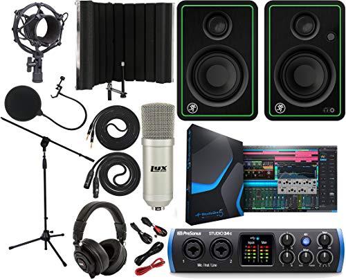 PreSonus Studio 24c 2x2 USB Type-C Audio/MIDI Interface with CR3-X Creative Reference...