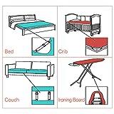 Verstellbare Bettlakenspanner, 8 Stück Elastische Bettlakenspanner, Weiß Betttuchspanner, Lakenspanner mit Metallclips, für Bettlaken, Matratze, Bügelbrett Oder Sofa - 7