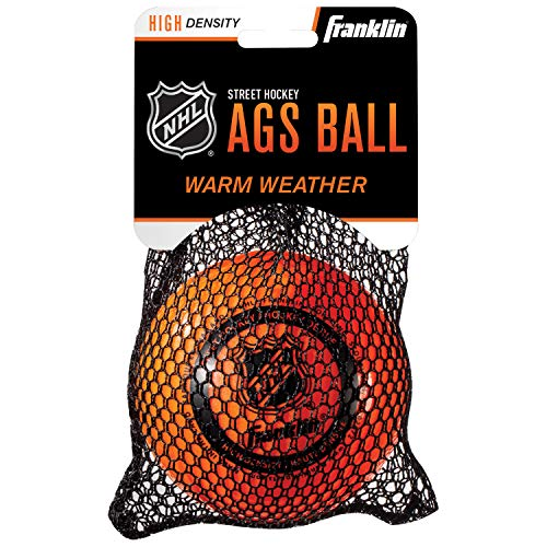 FRANKLIN - AGS Streethockey Ball NHL I Ball für Roller- und Inlinehockey I Outdoor Ball mit Active-Gravity-System I speziell gedämpfte Flüssigkeit im Ballinneren I mittelhart I hitzetauglich - Orange