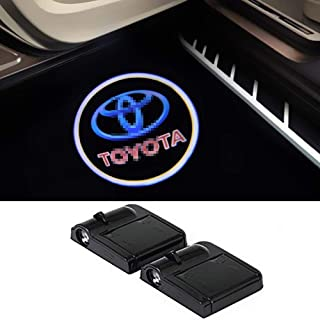 For Toyota Wireless Car Door Led Welcome Laser Projector,No Drill Type Logo Light for Reiz,Camry,Corolla,Highlander,Cruiser,Supercharger,Tacoma, ,Camry,Land Cruiser,Prado,Sequoia,Prius, etc.