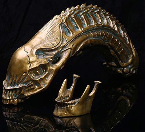 JINGXI Alien Schädel Statue 1: 1 Replik, Harz Handwerk Skelett Skulpturen Dekoration, Schädel Prop