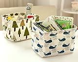 Leisial Aufbewahrungsbox für Baumwolle und Wäsche, Aufbewahrungstasche aus wasserdichtem Material, Griffe beidseitig für Kleidung von Kindern mit niedrigem Alter oder Haustier-Zubehör, style D, 20.5×16.5×13.5cm - 2