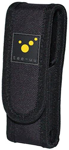 tee-uu LED Taschenlampen-Holster (für Geräte mit 11-14cm Länge) mit Batteriefach!