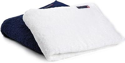 今治タオル バスタオル つつまれたい 2枚セット(ホワイトxネイビー) 赤ちゃんにも使いたくなる大人のタオル 日本製 60cm×120cm