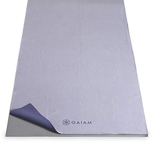 Gaiam–Antideslizante Yoga Toallas - 05-59268, Violeta