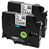 Oozmas Compatible Label Tape Replacement for TZe-131 TZ131 Compatible with Brother P Touch Black on Clear Tape 1/2 Inch 26.2 Feet 2 Pack