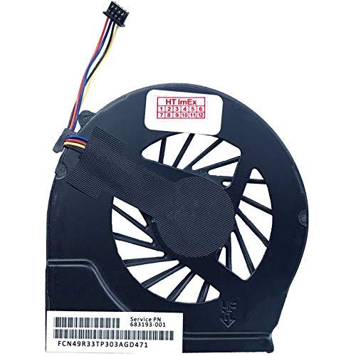 HT-ImEx Lüfter/Kühler - Fan komaptibel für HP Pavilion g6-2103sg, g6-2211sg, g6-2287eg, g6-2348sg, G4-2006TX, G4-2022TX, G4-2114TX, G4-2209TU, g6-2110sg, g6-2225sg, g6-2300sg, g6-2355sg
