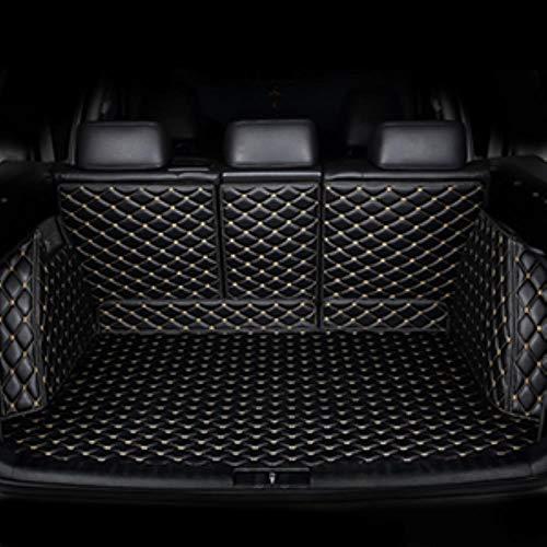 Suyanouz Auto-Kofferraum-Matten für Jaguar Alle Modelle F-PACE XF XE Car Styling Zubehör, Schwarz Beige