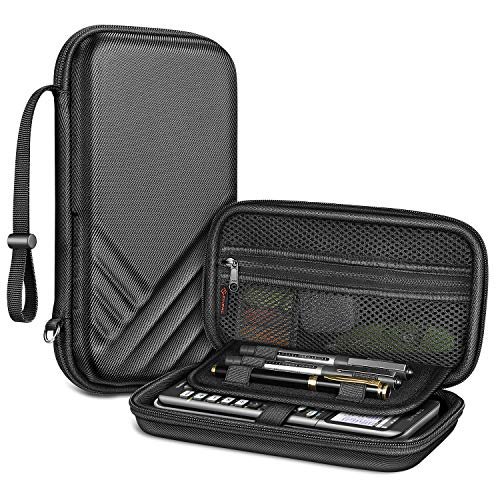 Fintie Graphing Calculator Carrying Case for Texas Instruments TI-Nspire CX II CAS/Tl-Nspire-CX-ll, TI-84 Plus CE/TI-84 Plus Color Graphing Calculators - with Mesh Pockets, Pen Slots, Black