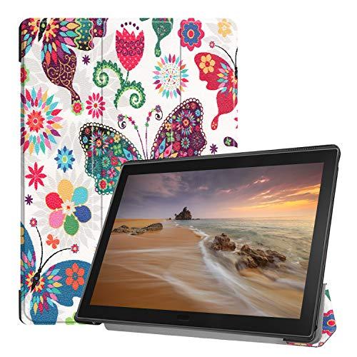 Fmway für Lenovo Tab E10 Hülle, PU Leder Flip Schutzhülle Hülle Tasche mit Ständerfunktion für Lenovo Tab E10 TB-X104F