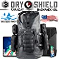 Mission Darkness Dry Shield Faraday Backpack 40L // Waterproof Tactical Backpack with MOLLE Webbing & Packs // Signal Blocking, Anti-tracking, EMP Shield, Data Privacy for Mobile Devices & Electronics
