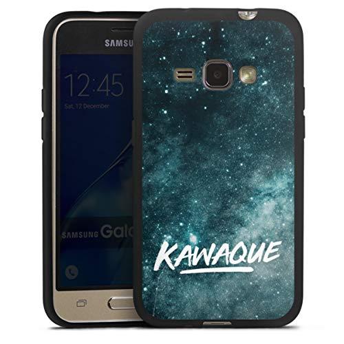 DeinDesign Silikon Hülle kompatibel mit Samsung Galaxy J1 (2016) Hülle schwarz Handyhülle Kawaque YouTube Galaxie
