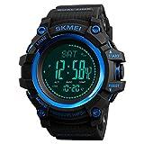 SKMEI, A04AC204680-BL, orologio digitale elettronico per uomo con cinturino in PU