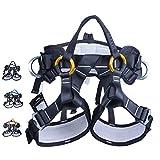 ZWWZ Half Body Klettergurt Einstellbare Fallschutzausrüstung for Berg Feuer Rescuing Klettern Abseilen Baum Climbingblack, Hand Werkzeug-Sets HAIKE (Color : Orange)
