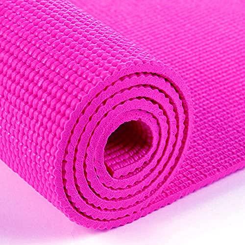 tappetino fitness fucsia Tappetino Arrotolabile Per Yoga Fitness Aerobica Con Superfice Antiscivolo (fucsia)