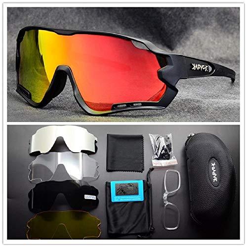 DFVX 2020 Gafas de Ciclismo polarizadas para Deportes al Aire Libre, Gafas de Bicicleta de Carretera, Gafas de Sol para Bicicleta de montaña, Gafas de Ciclismo para Hombres y Mujeres