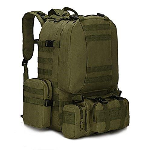 Mcdobexy Tactical MOLLE Trekking Rucksacks 55L,ArmyGreen