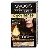 Syoss Oleo Tinte para el cabello intenso, 100% aceites puros, 0% amoniaco, 2-10, color negro y marrón