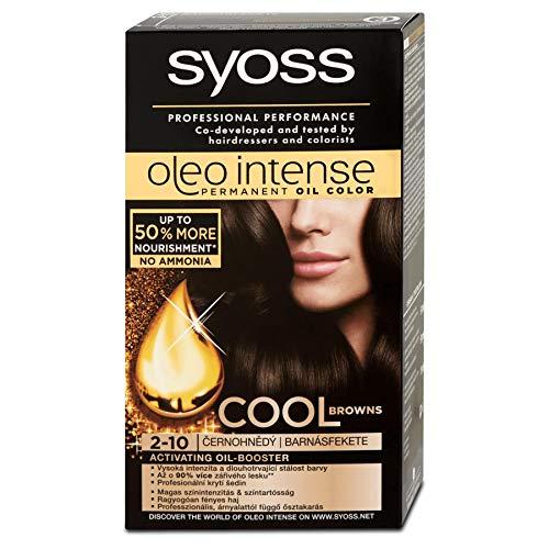 Syoss Oleo Intense Haarfarbe 100% Pure Oils 0% Amonia 2-10 Schwarzbraun