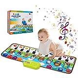 VNVDFLM Piano Mat for Toddler 1-3,Musical Keyboard Piano Mat for Kid Adjustable Vol Preschooler Toys Educational Toys for Kids Toddlers 1-3 Children 's Day Gift for Kids Girls Boys Birthday Gift