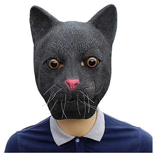 ZYEZI Máscara Principal Animal del látex del Partido del Traje de Halloween de la Novedad Deluxe, Decoraciones del Traje del Partido de Halloween