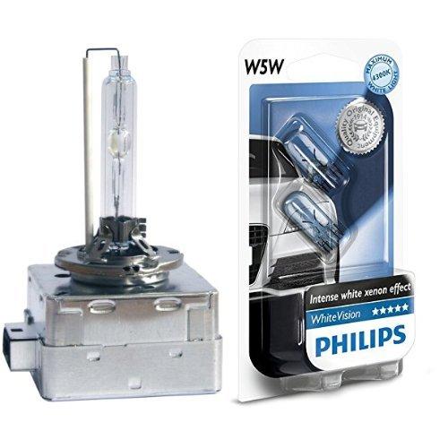 2X Philips 85415XVS1 - Xenon X-treme Vision D1S, confezione singola + Philips 12961NBVB2 White Vision Lampada Alogena 12V , 5W, 60% di Luce in Più sulla Strada, 4300K, confezione da due pezzi