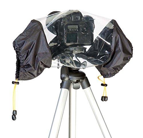 vhbw Regenschutz Regencape Cover passend für Kamera, Camcorder, DSLR